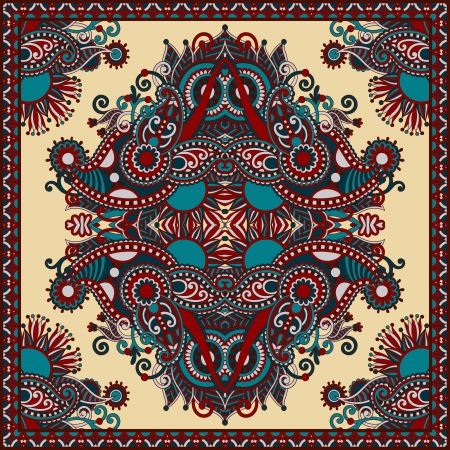 carpet texture: Traditional ornamental floral paisley bandanna  You can use this pattern in the design of carpet, shawl, pillow, cushion