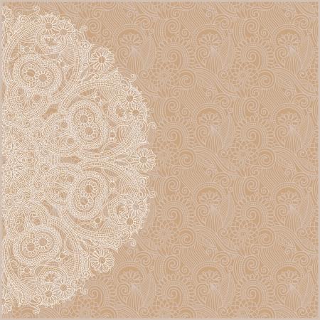 花の背景を持つ装飾サークル テンプレート