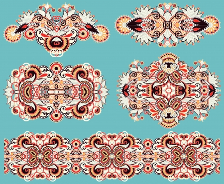 ornamental floral adornment Vector