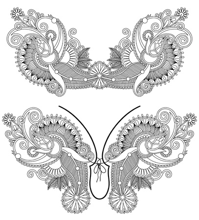Neckline embroidery fashion Stock Vector - 17416176
