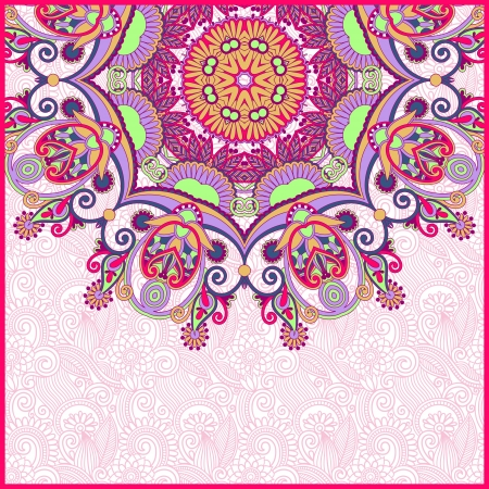ornamental circle template with floral background Stock Vector - 17416239