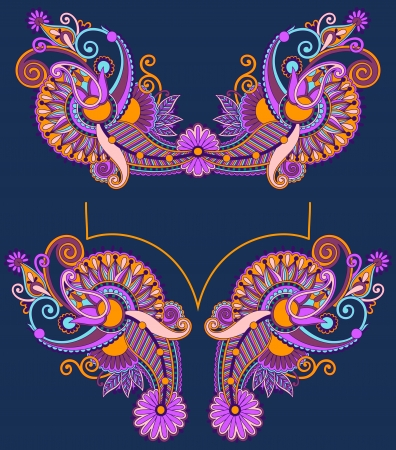 Neckline embroidery fashion Stock Vector - 17416141
