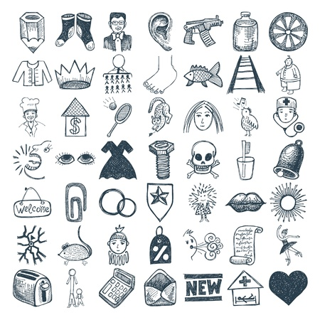 49 hand drawing doodle icon set Stock Vector - 17418257