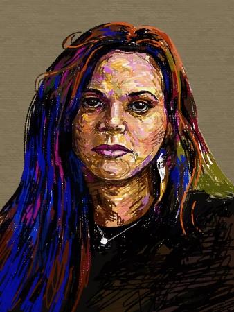 face painting: Original digital painting portrait of women  Vector illustration