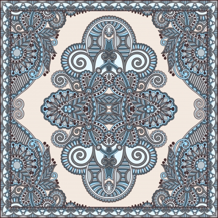 Traditional ornamental floral paisley bandanna. You can use this pattern in the design of carpet, shawl, pillow, cushion Vector
