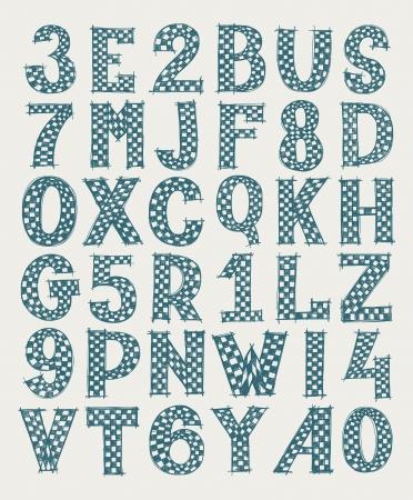 hand draw sketch doodle alphabet design Stock Vector - 18033049