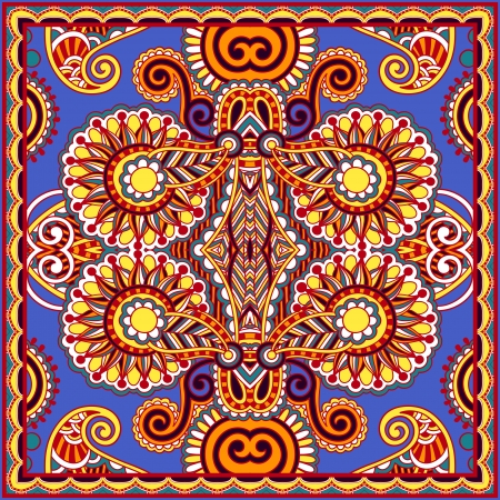 persia: Traditional ornamental floral paisley bandanna. You can use this pattern in the design of carpet, shawl, pillow, cushion Illustration