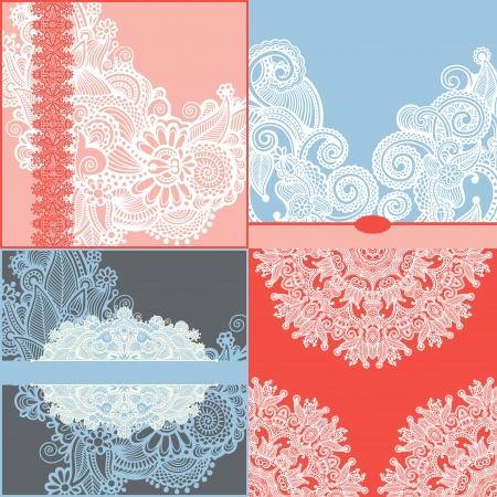 friso: recolección de la cosecha de fondo ornamental floral con las flores decorativas para el diseño, el patrón de plantilla del marco establecido por tarjeta