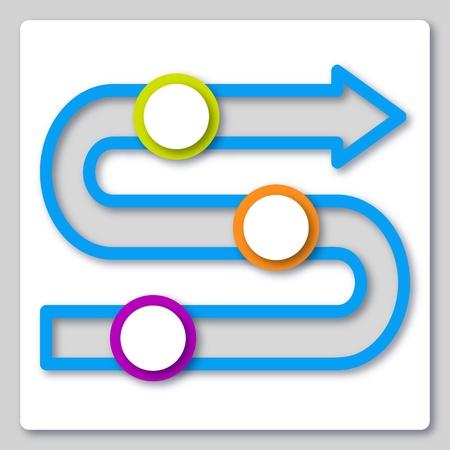 papier découpé icône du design infographique entreprise