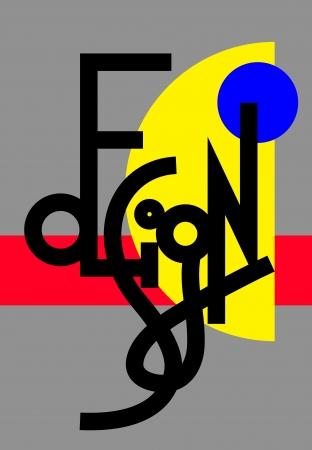 original modern hand lettering composition DESIGN Stock Vector - 18391483