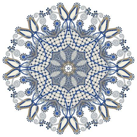 Circle lace ornament, round ornamental geometric doily pattern Stock Vector - 18797003