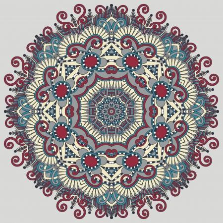 曼陀羅: サークル レース飾り, 装飾的な幾何学的なドイリー パターンをラウンド  イラスト・ベクター素材