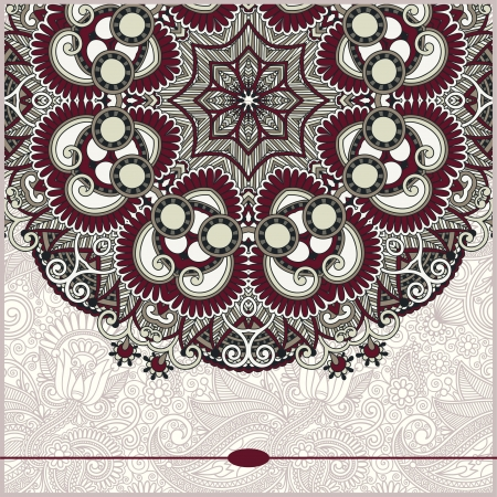 ornamental template with circle floral background Stock Vector - 18797002
