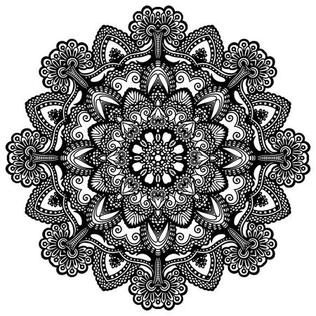 lace filigree: Circle lace ornament, round ornamental geometric doily pattern