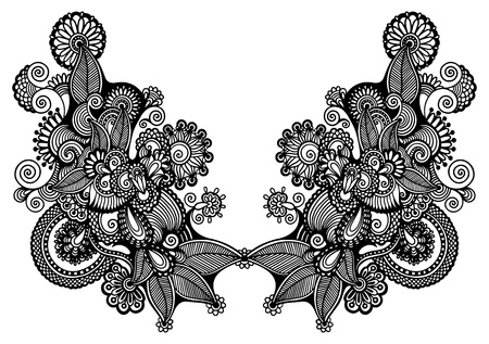 胸元刺繍ファッション