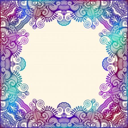 ornate swirls: ornate card announcement Illustration