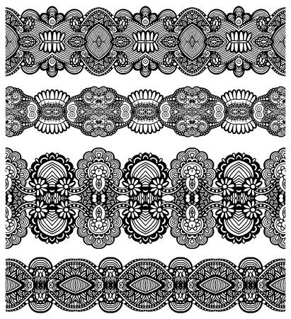 friso: colección de costura rayas florales ornamentales