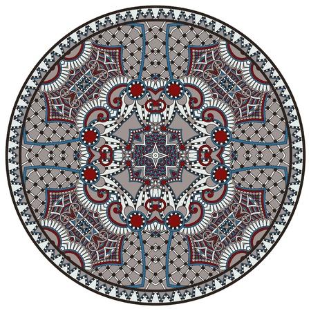 Circle lace ornament, round ornamental geometric doily pattern Stock Vector - 18929683