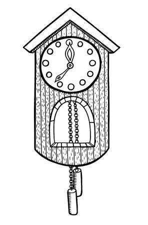 orologi antichi: Doodle orologio illustrazione vettoriale