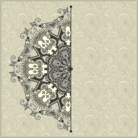 ornamental template with circle floral background Stock Vector - 19894564