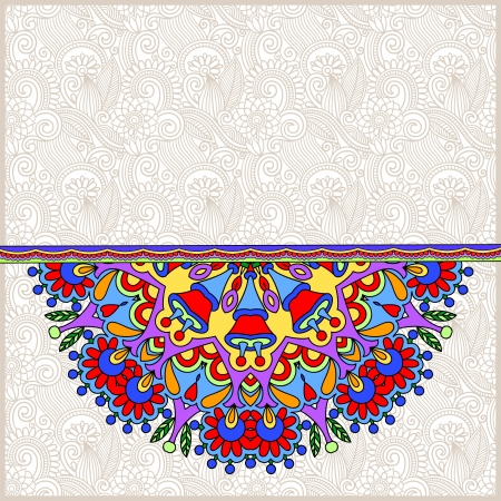 ornamental template with circle floral background Stock Vector - 20053567