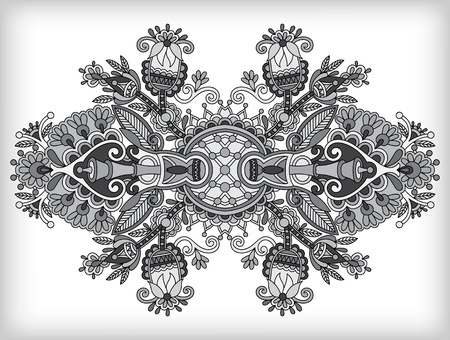 adornment: grey ornamental floral adornment Illustration