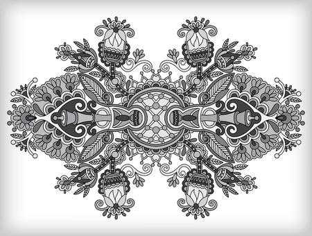 adornment: grey ornamental floral adornment Illustration