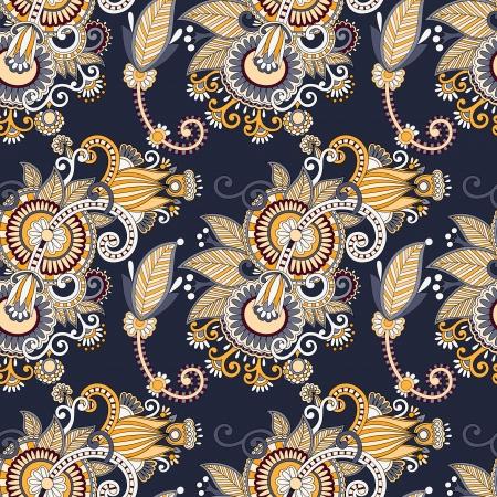 motif cachemire: seamless paisley floral vintage Illustration