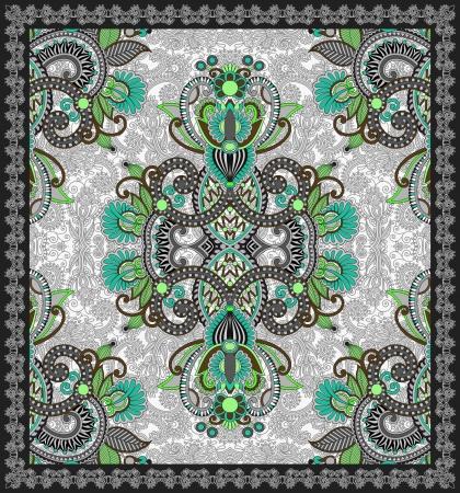 carpet design: Ukrainian Oriental Floral Ornamental Carpet Design Illustration