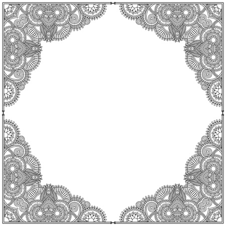 black and white vintage ornamental template Vector