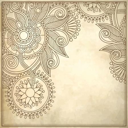 flower design on grunge background Vector