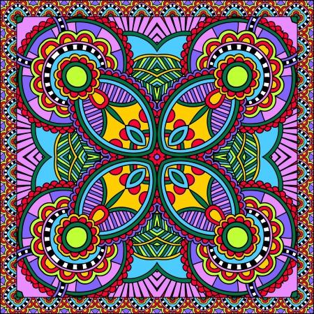 전통적인 관 상용 꽃 페이 즐 리 bandanna입니다. 카펫, 목도리, 베개, 쿠션 디자인에이 패턴을 사용할 수 있습니다. 일러스트