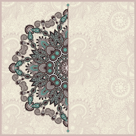 victorian wallpaper: ornamental template with circle floral background Illustration