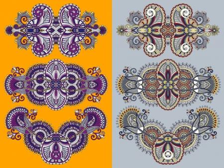 adornment: ornamentale ornamento floreale per il vostro disegno Vettoriali