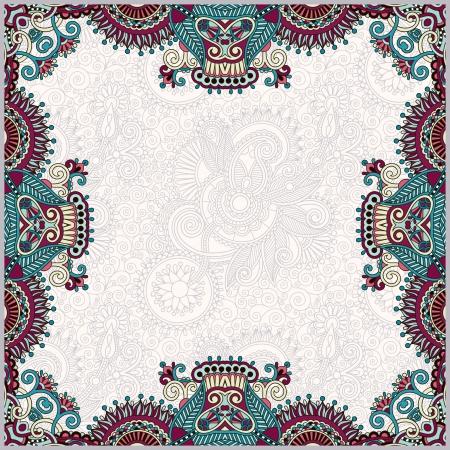 victorian wallpaper: floral vintage frame, ukrainian ethnic style