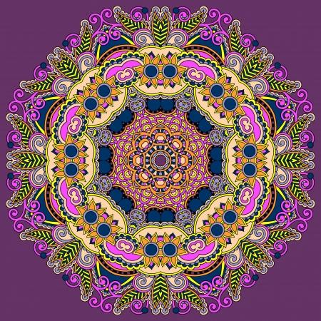 Circle lace ornament, round ornamental geometric doily pattern Stock Vector - 21680417