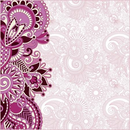 挨拶、招待状、花のバック グラウンドでの発表のための場所で装飾的な花パターン