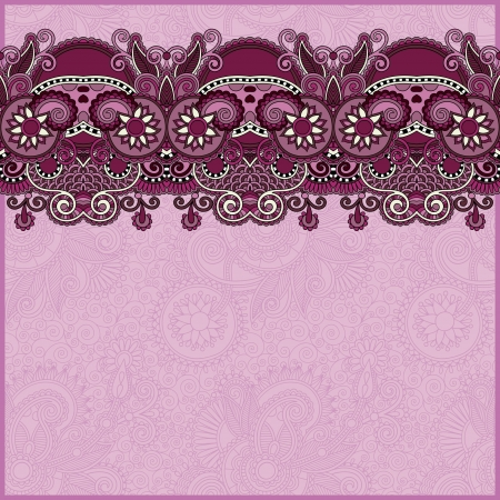 swirl border: ornate floral background with ornament stripe Illustration