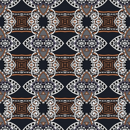 geometry vintage floral seamless pattern Stock Vector - 21758662