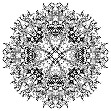 원 레이스 장식, 둥근 장식 기하학적 인 패턴 냅킨, 검은 색과 흰색 모음