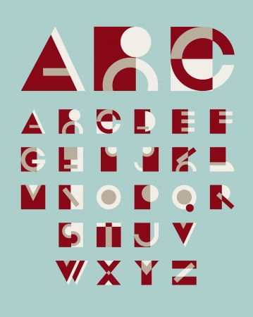original geometric alphabet Vector