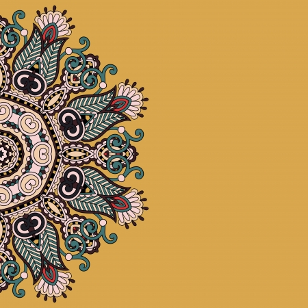 ornamental template with circle floral background Illustration