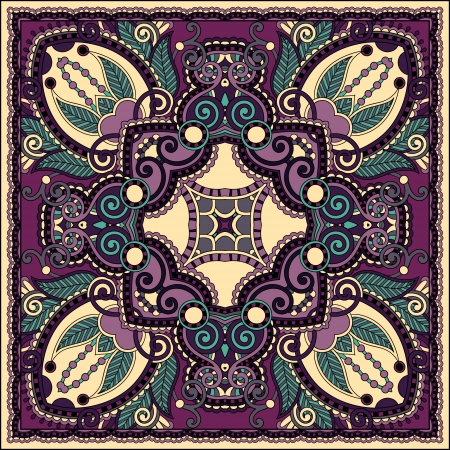 Traditional ornamental floral paisley bandanna. You can use this pattern in the design of carpet, shawl, pillow, cushion Stock Vector - 21820926