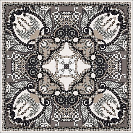 Traditional ornamental floral paisley bandanna. You can use this pattern in the design of carpet, shawl, pillow, cushion Stock Vector - 21820927