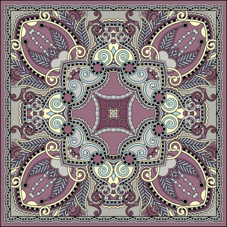 Traditional ornamental floral paisley bandanna. You can use this pattern in the design of carpet, shawl, pillow, cushion Stock Vector - 21820928