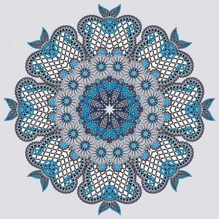 Circle lace ornament, round ornamental geometric doily pattern Stock Vector - 21823474