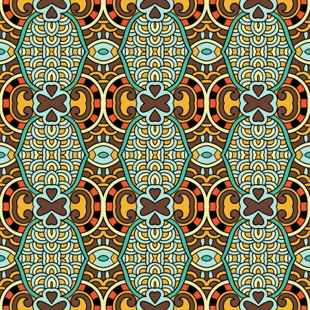 geometry vintage floral seamless pattern Stock Vector - 21829669