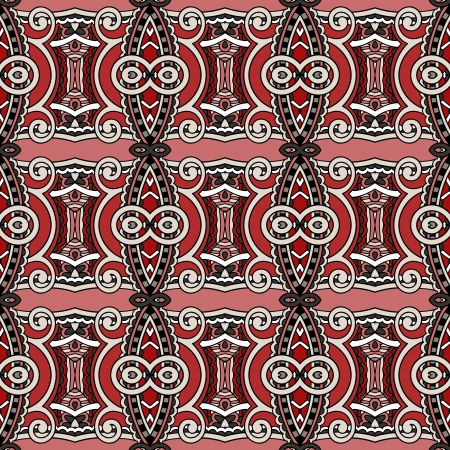 geometry vintage floral seamless pattern Stock Vector - 21829680