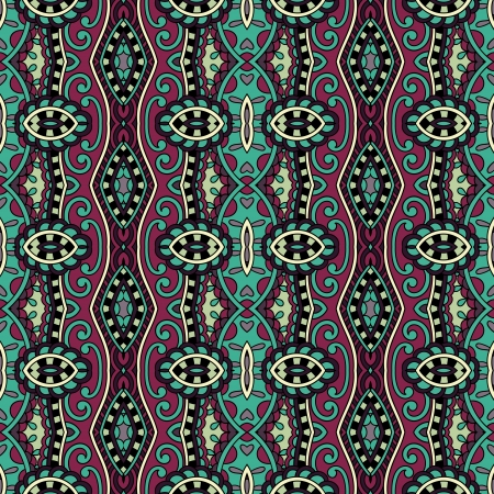 geometry vintage floral seamless pattern Stock Vector - 21829807