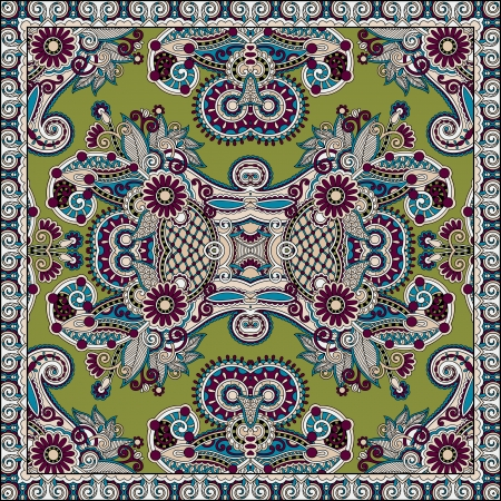 Traditional ornamental floral paisley bandanna. You can use this pattern in the design of carpet, shawl, pillow, cushion Stock Vector - 21877477